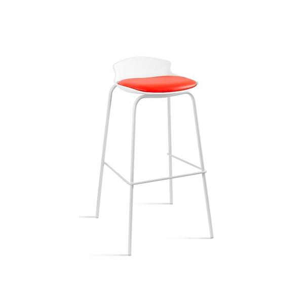 Krzesło barowe Unique Duke biało-czerwone 7-87A-0-2