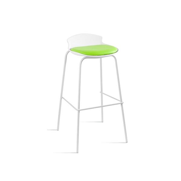 Krzesło barowe Unique Duke biało-zielone 7-87A-0-9