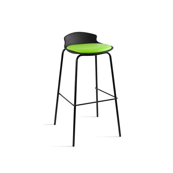 Krzesło barowe Unique Duke czarno-zielone 7-87A-4-9