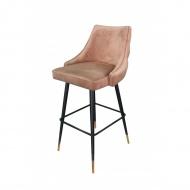 Krzesło barowe złote