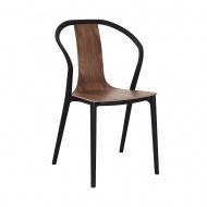 Krzesło Bella czarne/orzech