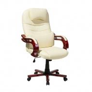 Krzesło biurowe beżowe regulowana wysokość GENERAL