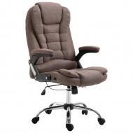 Krzesło biurowe, brązowe, poliester