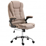 Krzesło biurowe, kolor taupe, poliester