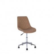 Krzesło biurowe skóra ekologiczna brązowe MARIBEL