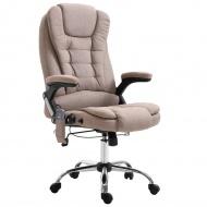 Krzesło biurowe z masażem, taupe, poliester