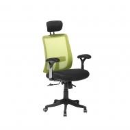 Krzesło biurowe zielone regulowana wysokość Saverio BLmeble