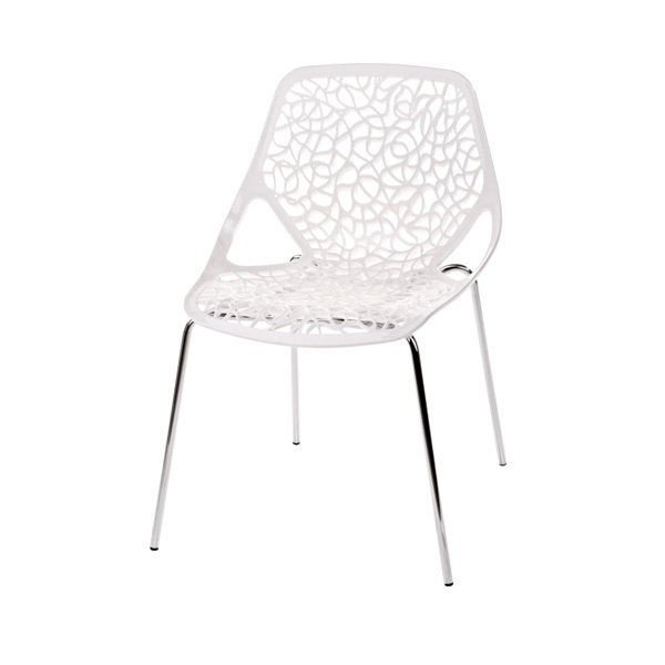 Krzesło Cepelia białe DK-5451