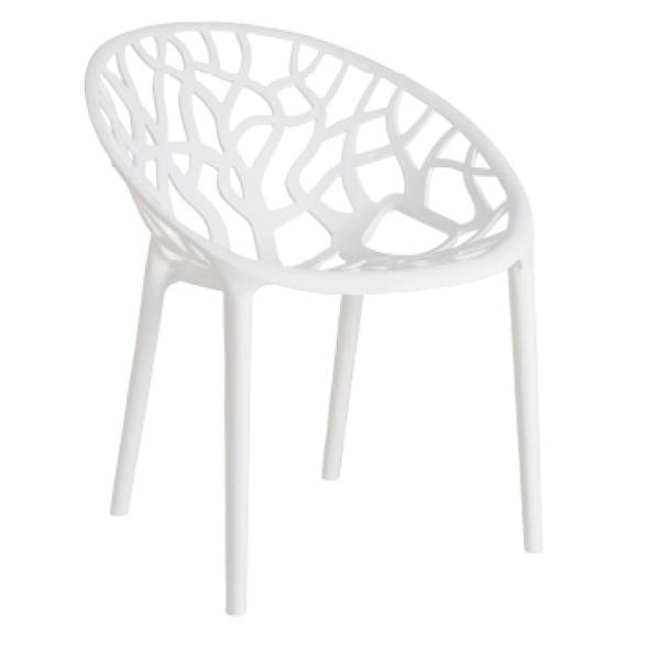 Krzesło Coral White Glossy DK-3504