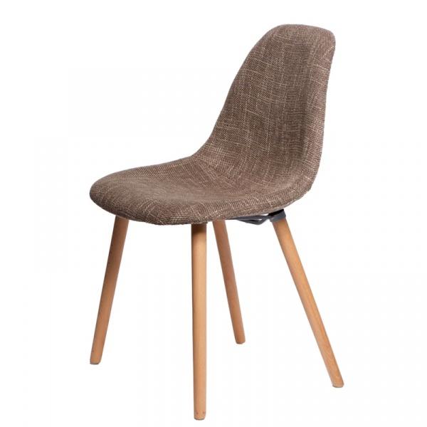 Krzesło D2 Cosy tapicerowane brązowe DK-42454