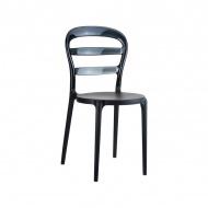 Krzesło D2 Miss Bibi czarne, czarne oparcie