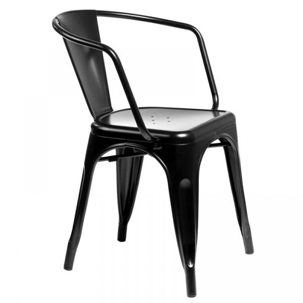 Krzesło D2 Paris Arms czarne  DK-41341