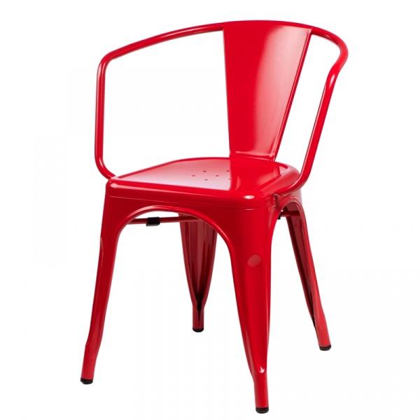 Krzesło D2 Paris Arms czerwone DK-41349