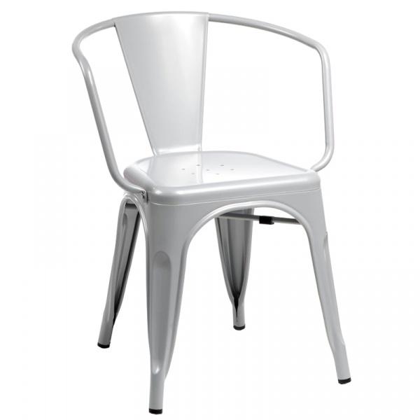 Krzesło D2 Paris Arms szare 5902385711074