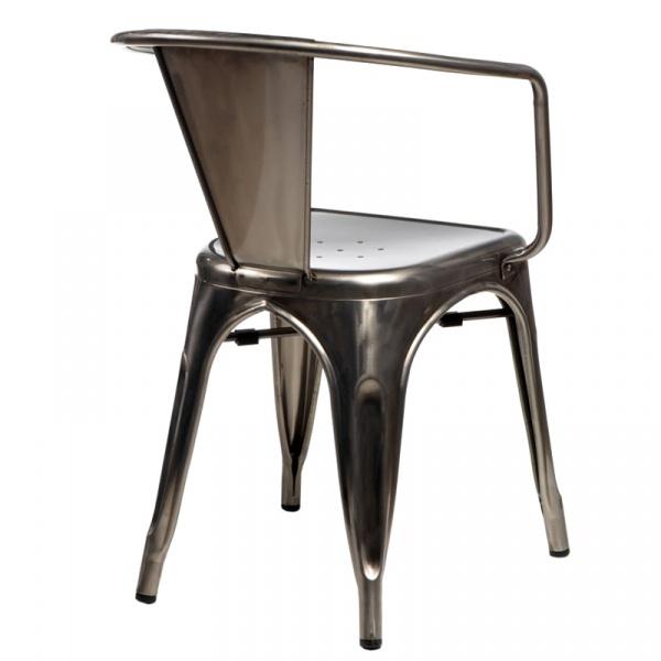 Krzesło D2 Paris Arms w kolorze metalu  DK-41333