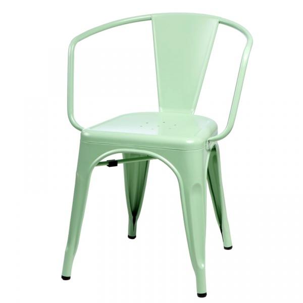 Krzesło D2 Paris Arms zielone DK-41353