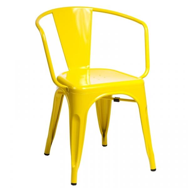 Krzesło D2 Paris Arms żółte DK-41345