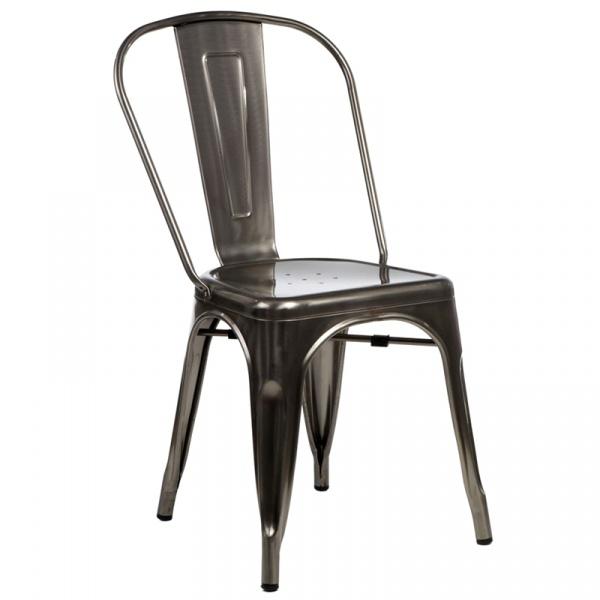 Krzesło D2 Paris w kolorze metalu  5902385706919
