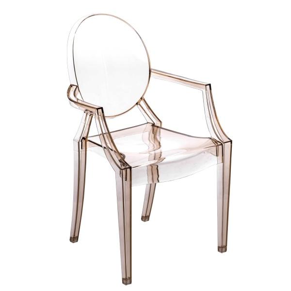Krzesło D2 Royal bursztynowy transparent 5902385700153
