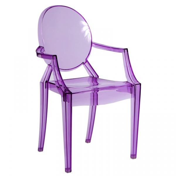 Krzesło D2 Royal fioletowy transparentny 5902385700801