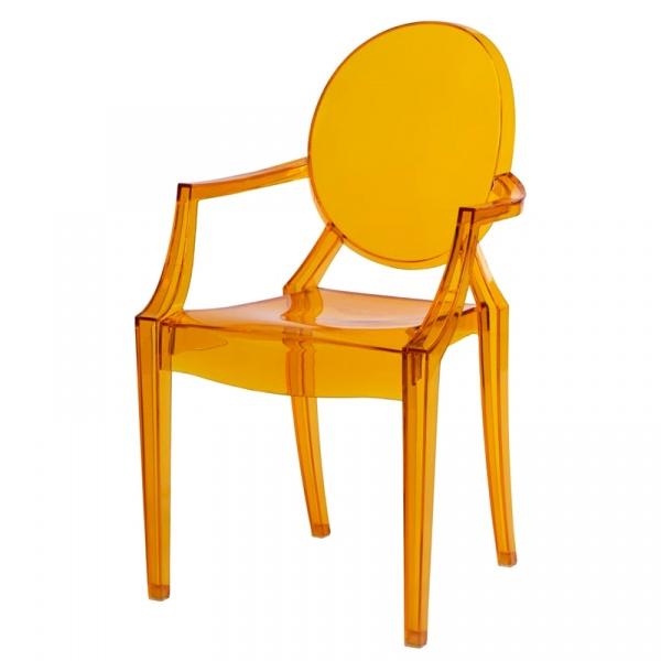 Krzesło D2 Royal pomarańczowy transparentny DK-48934