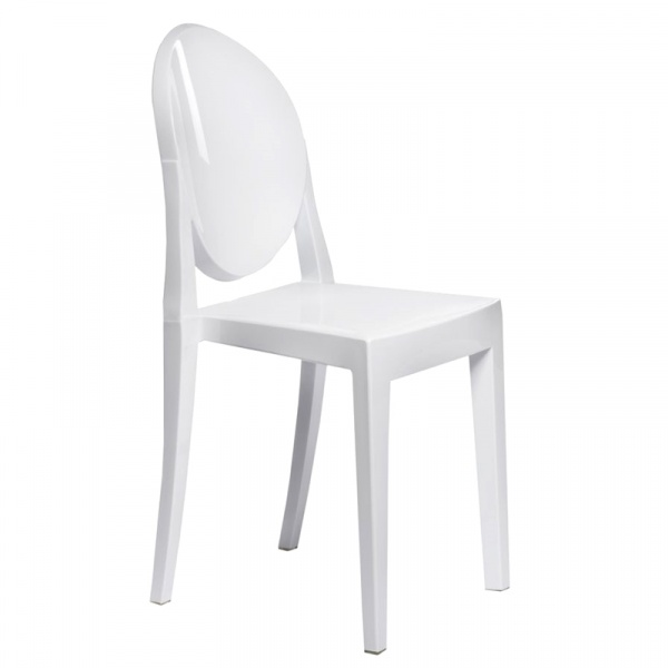 Krzesło D2 Viki białe pełne DK-48922