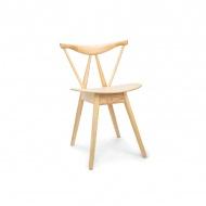 Krzesło drewniane King Home Branch naturalne
