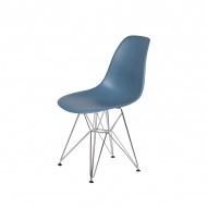 Krzesło DSR Silver King Home chabrowy niebieski