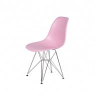 Krzesło DSR Silver King Home pastelowy róż
