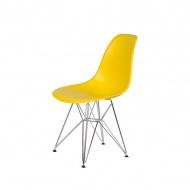 Krzesło DSR Silver King Home żółty słoneczny