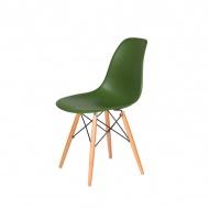 Krzesło DSW Wood King Home butelkowa zieleń