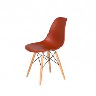 Krzesło DSW Wood King Home ceglaste
