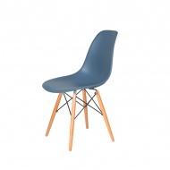 Krzesło DSW Wood King Home chabrowy niebieski