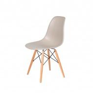 Krzesło DSW Wood King Home ecru beżowy