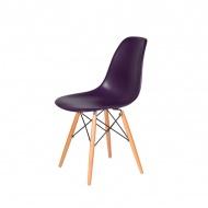 Krzesło DSW Wood King Home fioletowa purpura
