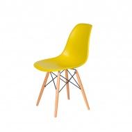 Krzesło DSW Wood King Home oliwkowe