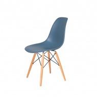 Krzesło DSW Wood King Home pastelowy niebieski
