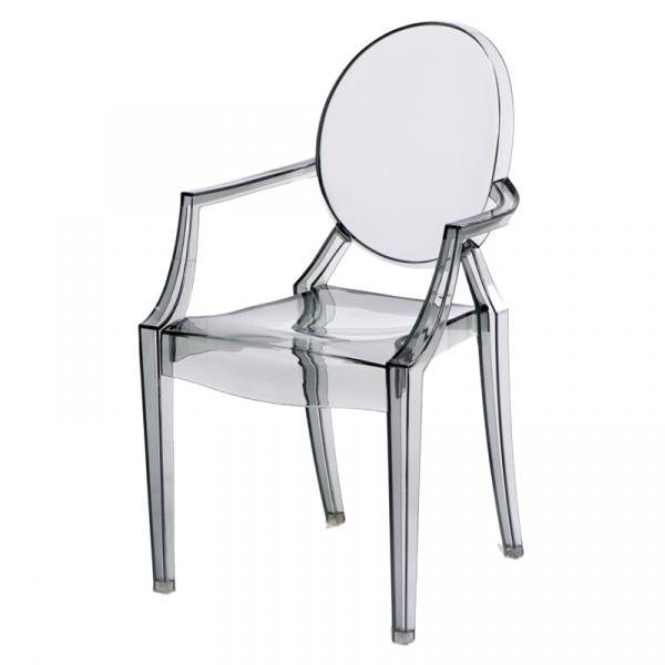 Krzesło dziecięce D2 Royal Junior transparentny dymiony DK-48946
