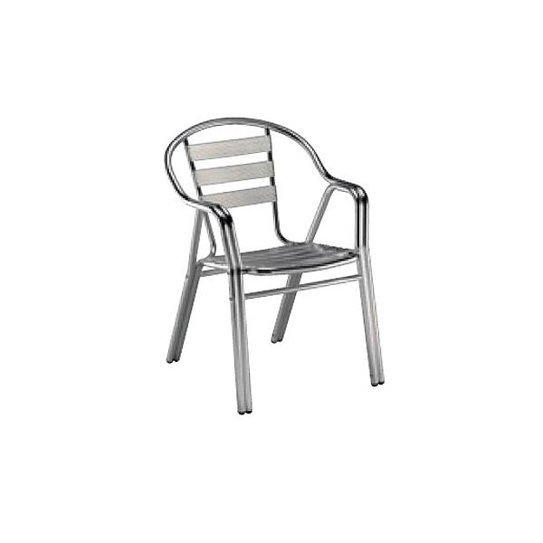 Krzesło Edge z podłokietnikami aluminium DK-18502