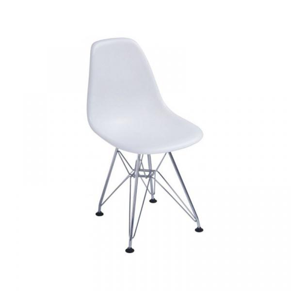 Krzesło JuniorP016 białe, chrom. nogi 5902385706216