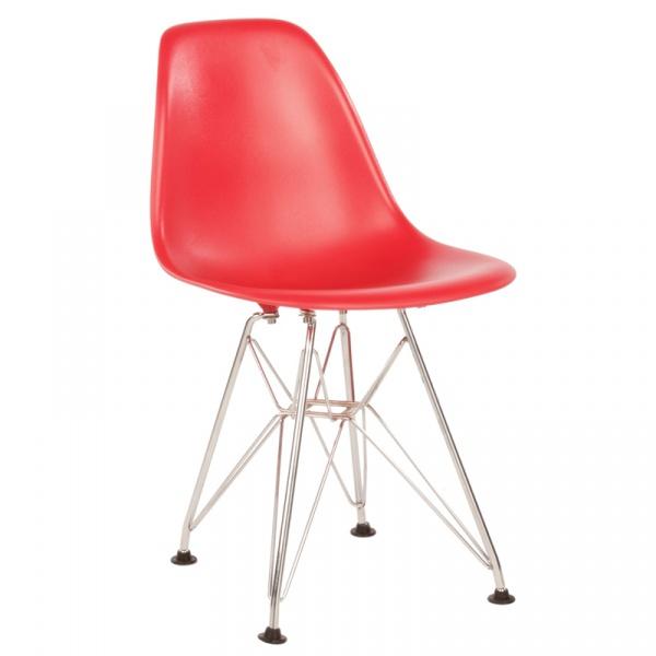 Krzesło JuniorP016 czerwone, chrom. nogi DK-5394