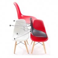 Krzesło JuniorP016 czerwone, drew. nogi
