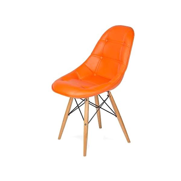 Krzesło King Bath DSW pomarańczowe LI-KK-132PU.POMARANCZOWY