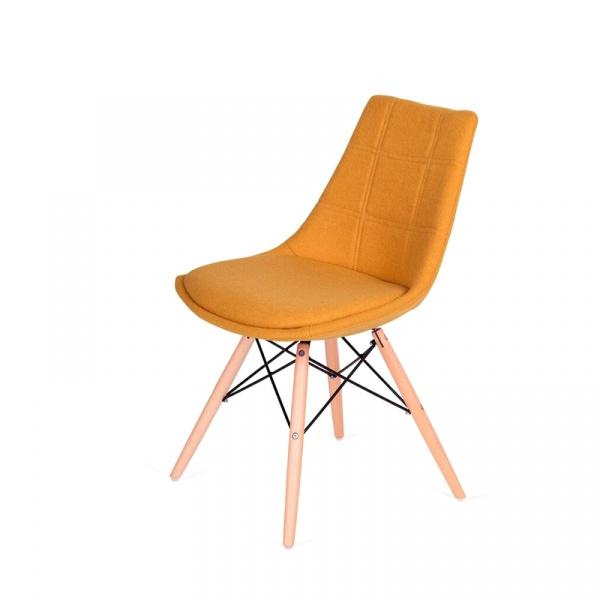 Krzesło King Bath Fabric musztardowe K-146-3.SH22.MUSZTAR