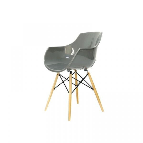 Krzesło King Bath Foro szary połysk PW-022.SZARY