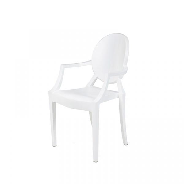 Krzesło King Bath Louis PP biały mat RU-KPC-099P.BIALY