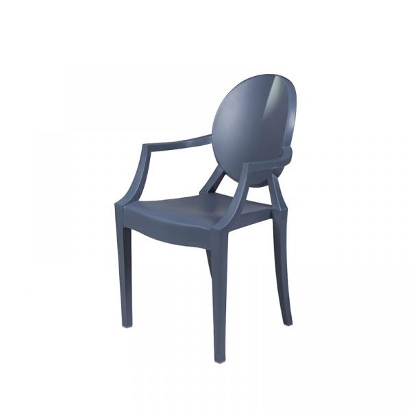 Krzesło King Bath Louis PP szary mat RU-KPC-099P.SZARY