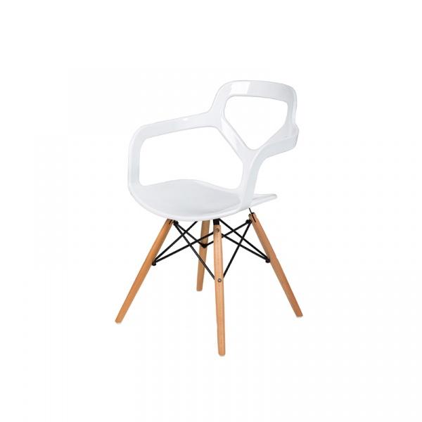 Krzesło King Bath Nox Wood DSW biały połysk RU-KPC-92W.BIALY