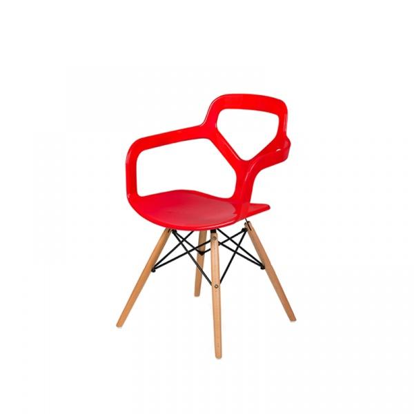 Krzesło King Bath Nox Wood DSW czerwony połysk RU-KPC-92W.CZERWONY