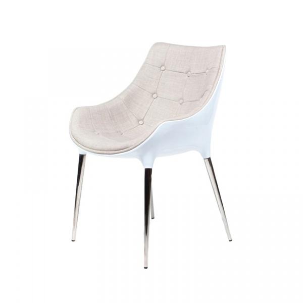 Krzesło King Bath Philippe Passion tkanina beżowa EV-KA-051.BZ.B